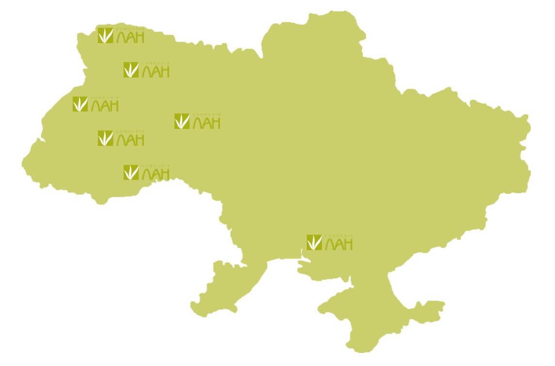 Представництва по Україні
