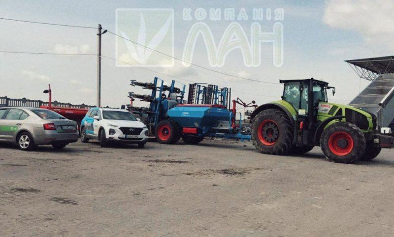 Демонстраційний показ сівалки LEMKEN AZURIT 9, агрегатованої з трактором CLAAS AXION 930